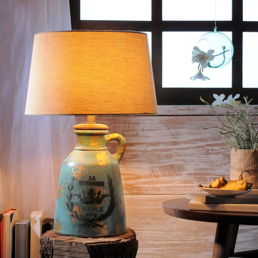 5352d8207 Buy Anso Turq. Table Lamp Online - Bedside Lamps - Fabuliv