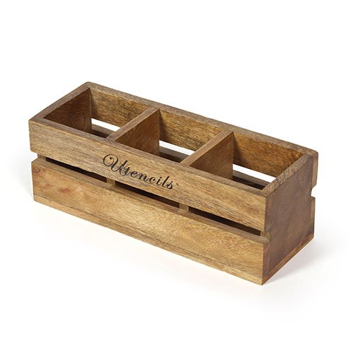 Rustic wooden condiment holder