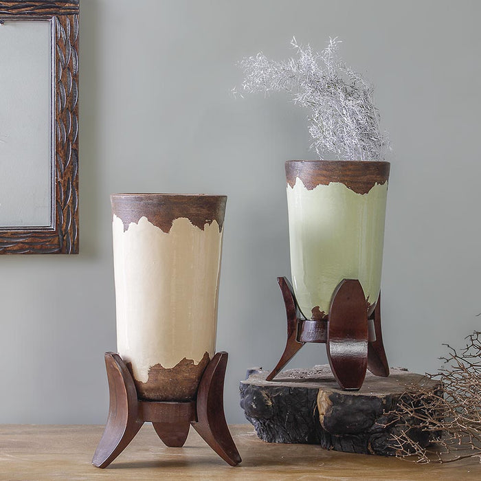 Llyod hue rustic vases set of 2