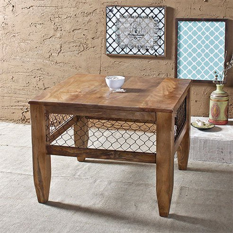 Baroque Natural Mesh End Table