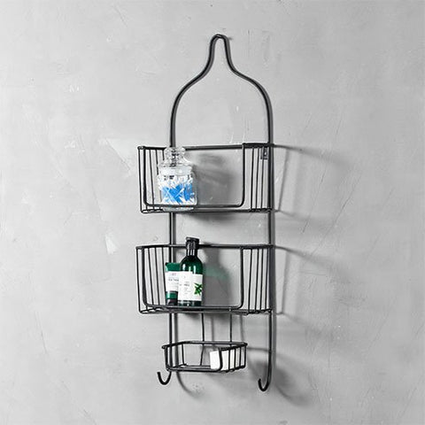 Lindon Bath Black Wall Shelf