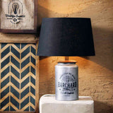 Casey Vintage Silver Barrel Table Lamp