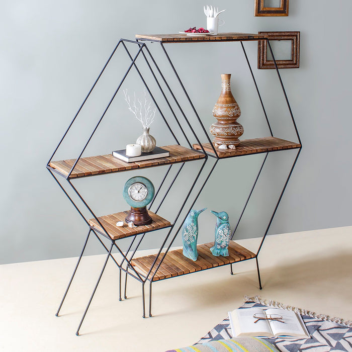Stella Metal Floor Shelf Set of 2