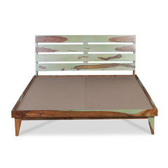 ALBIN Solid Sheesham Wood Bed