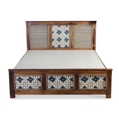 Jason Hand Painted Solid Wood Bed