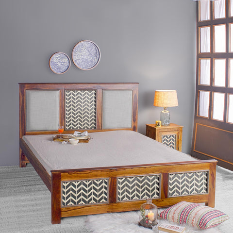 Kylian Hand Painted Solid Wood Bed