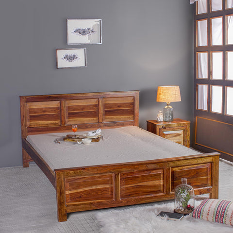 Louis Solid Sheesham Wood Bed