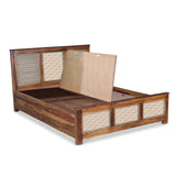 Leeroy Hand Carved Solid Wood Bed