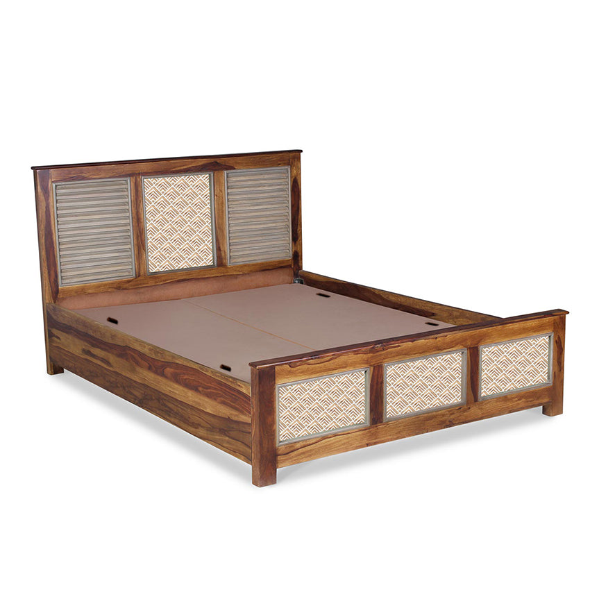 solid wood bed online