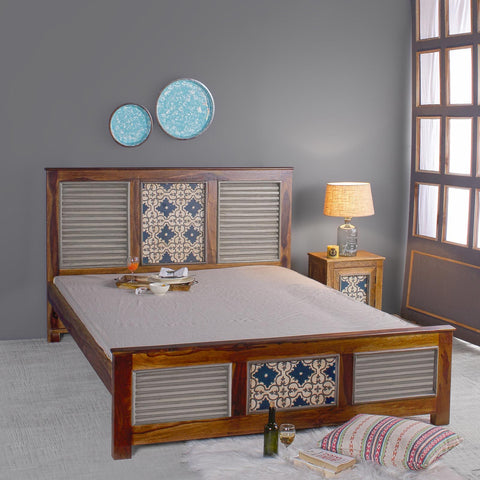 Buy Jason Solid Sheesham Wood Bed
