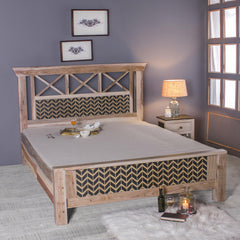 Margot Hand Painted Solid Wood Bed with Box