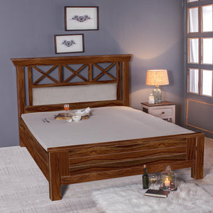 solid Sheesham Wood Bed