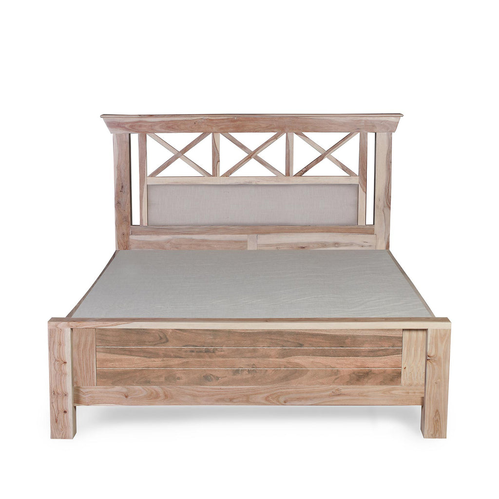 Margot Solid Sheesham Wood Bed with Storage