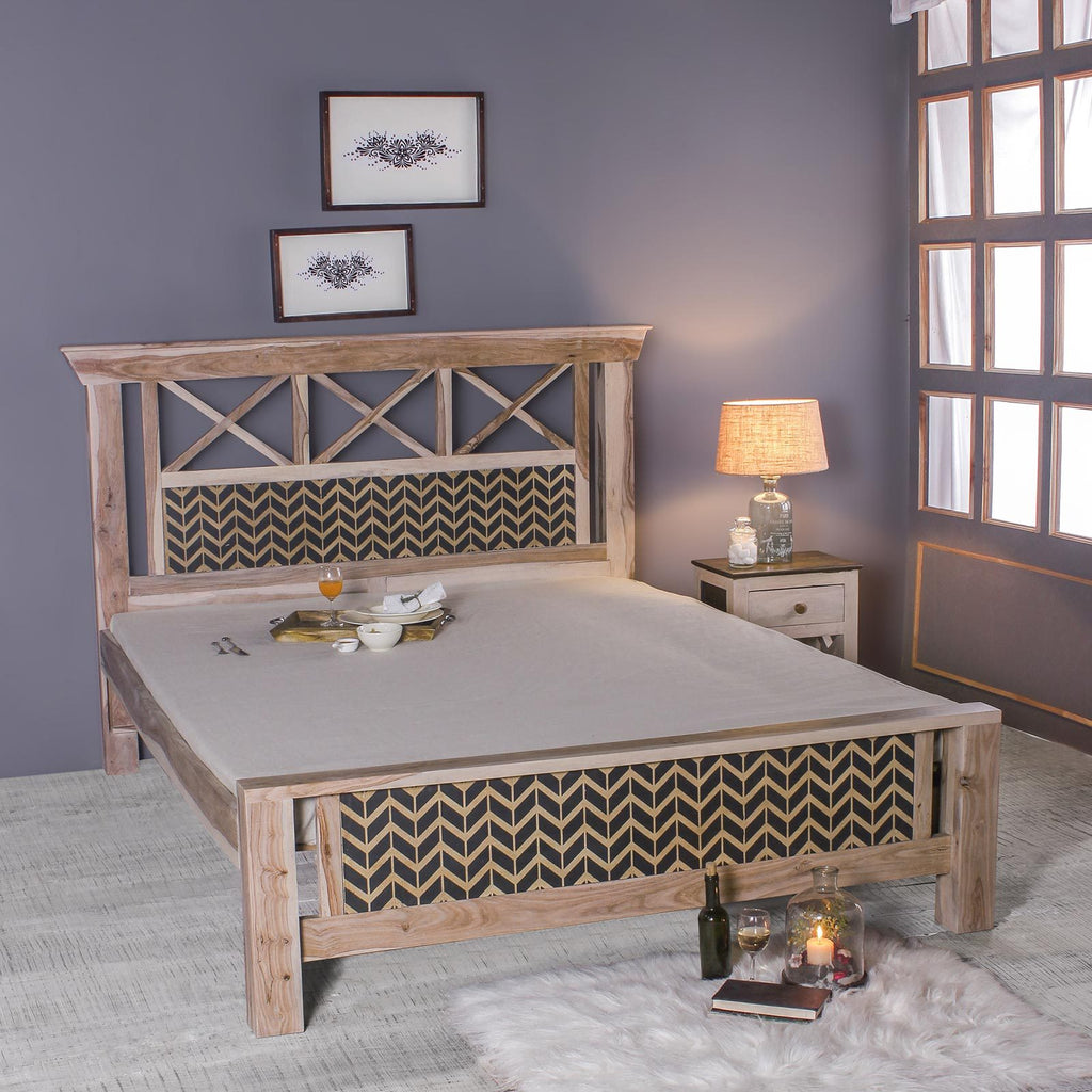 Margot Hand Painted Solid Wood Bed