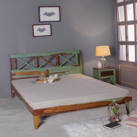 Mavis Solid Sheesham Wood Bed