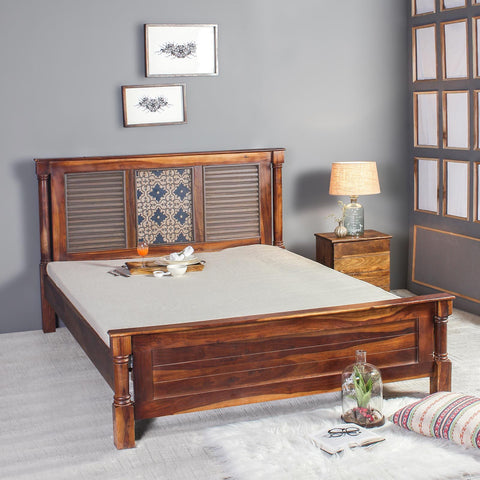 Reina Solid Sheesham Wood Bed