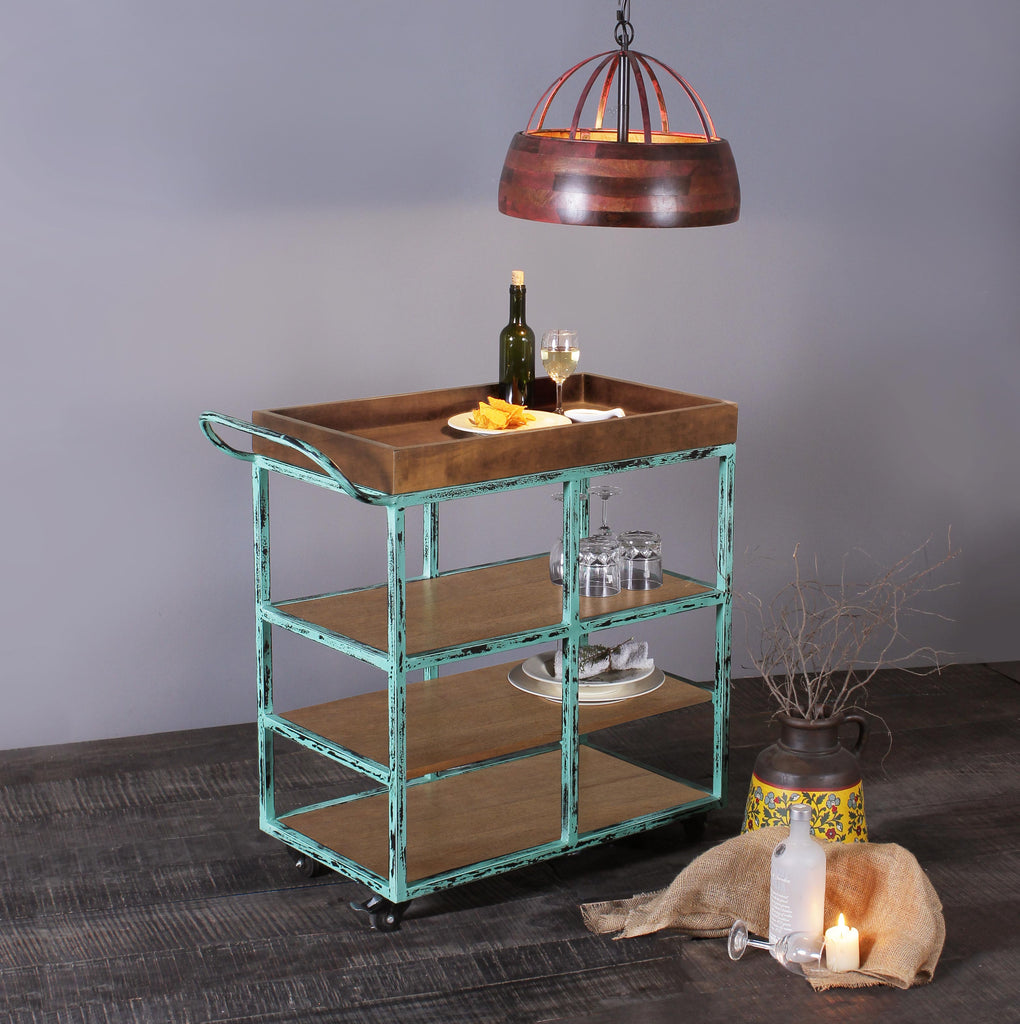Wooden Bar Trolly