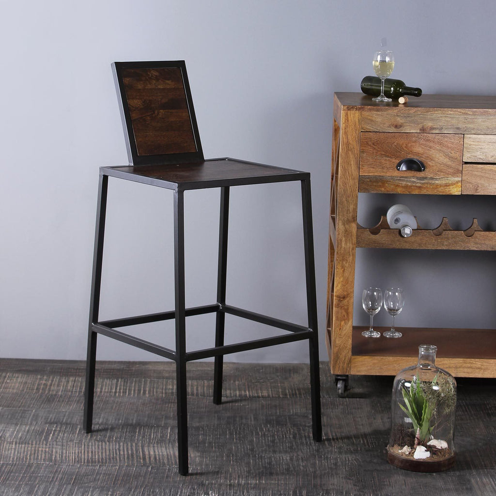 Noelle Iron and Wood Bar Stool