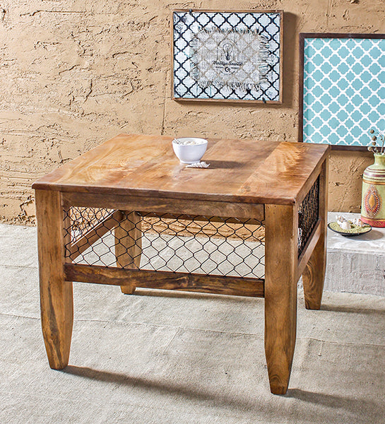 Baroque Natural Mesh Coffee Table in 2 Sizes