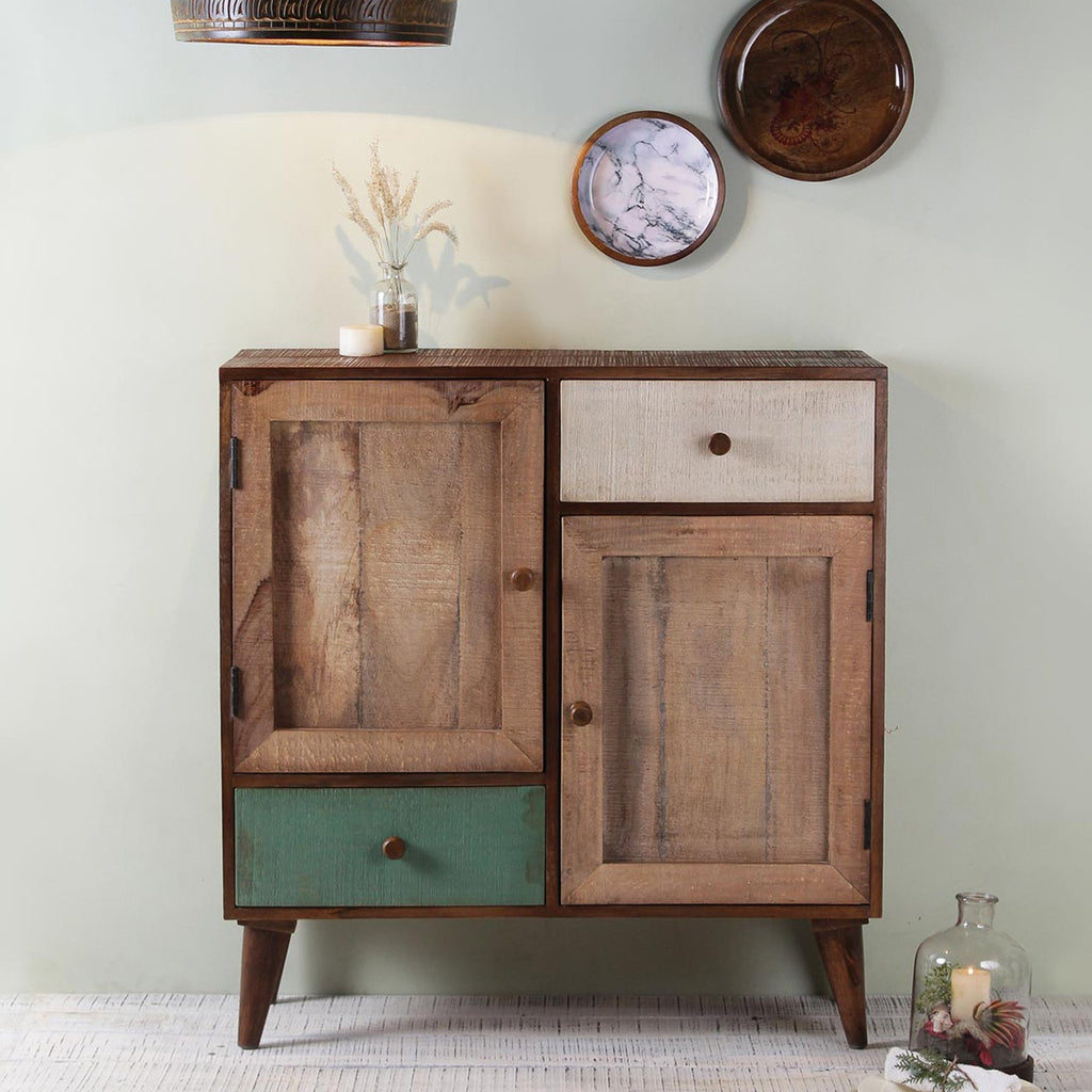 Edgar Solid Wood Cabinet in Vintage Finish