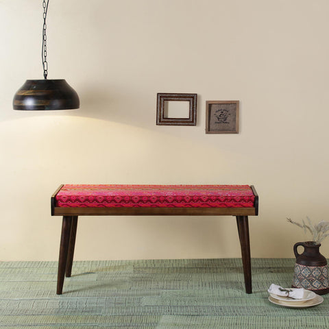 Ethnic Solid Wood Bench