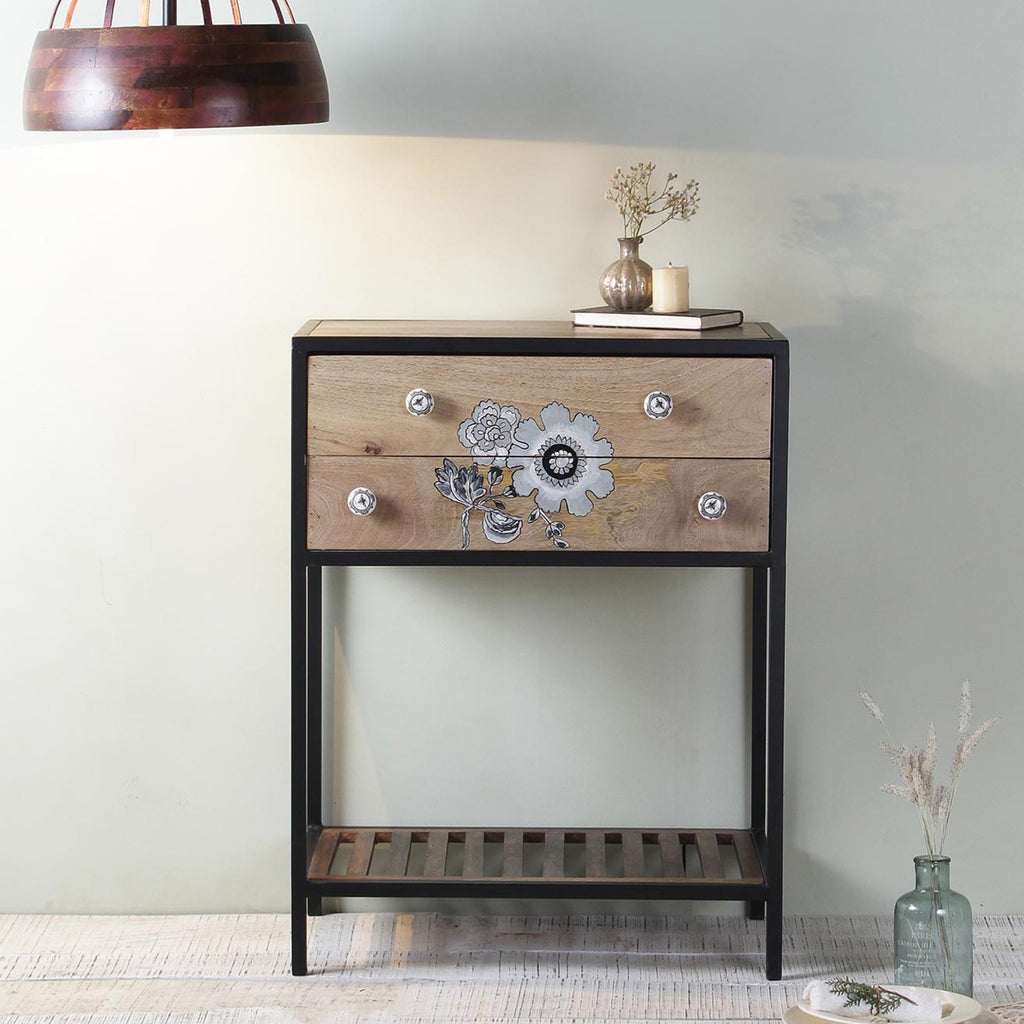 Finley Iron and Wood Console Table