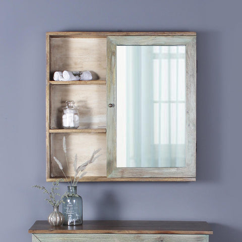 Philippe Solid Wood Bathroom Shelf