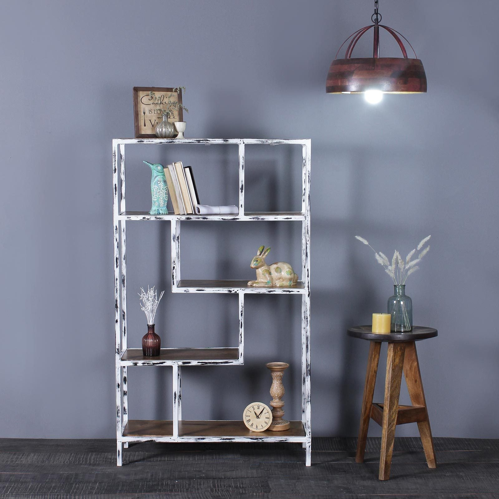 Renard Iron and Solid Wood Display Unit
