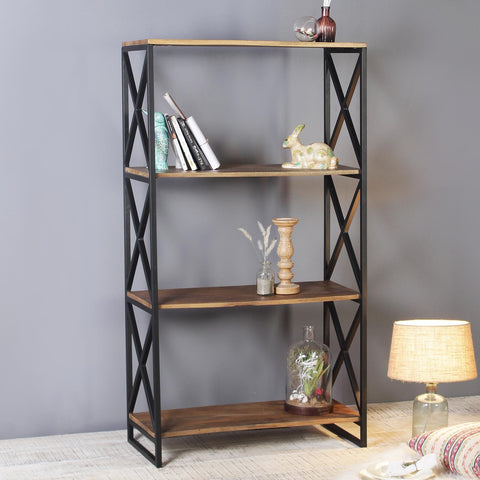 Renaud Iron and Solid Wood Display Unit