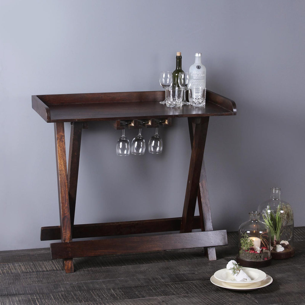 Buy Sandra Solid Wood Bar Table