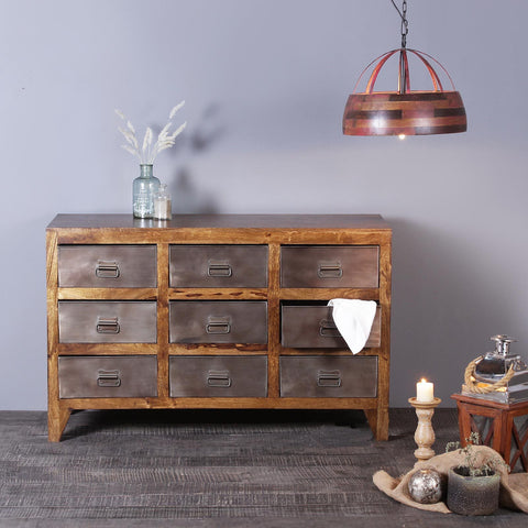 Tristan Solid Wood and Iron Cabinet