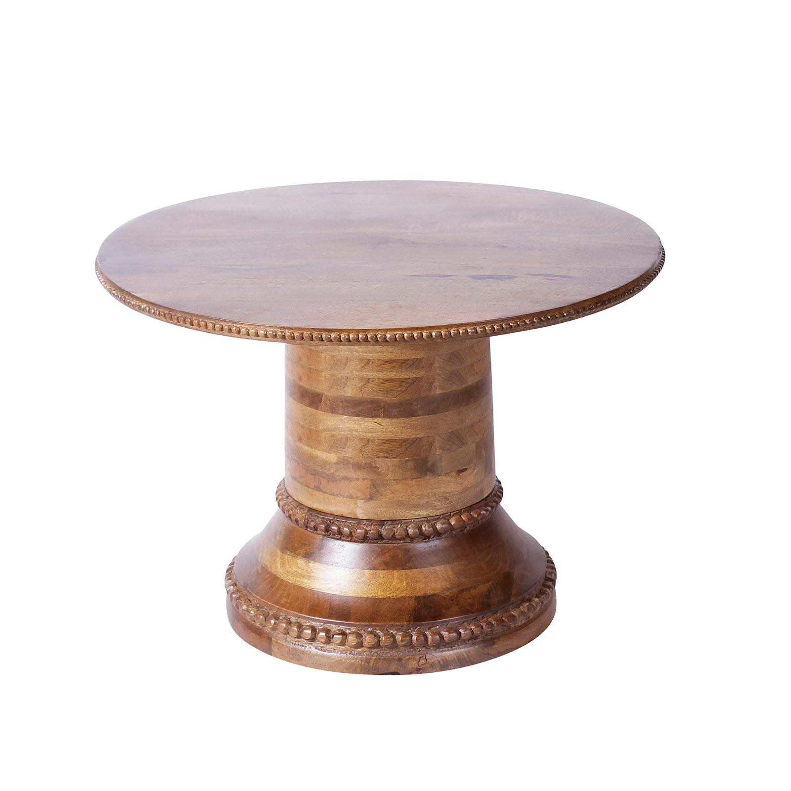 Pauline Solid Wood Round Coffee Table in Teak