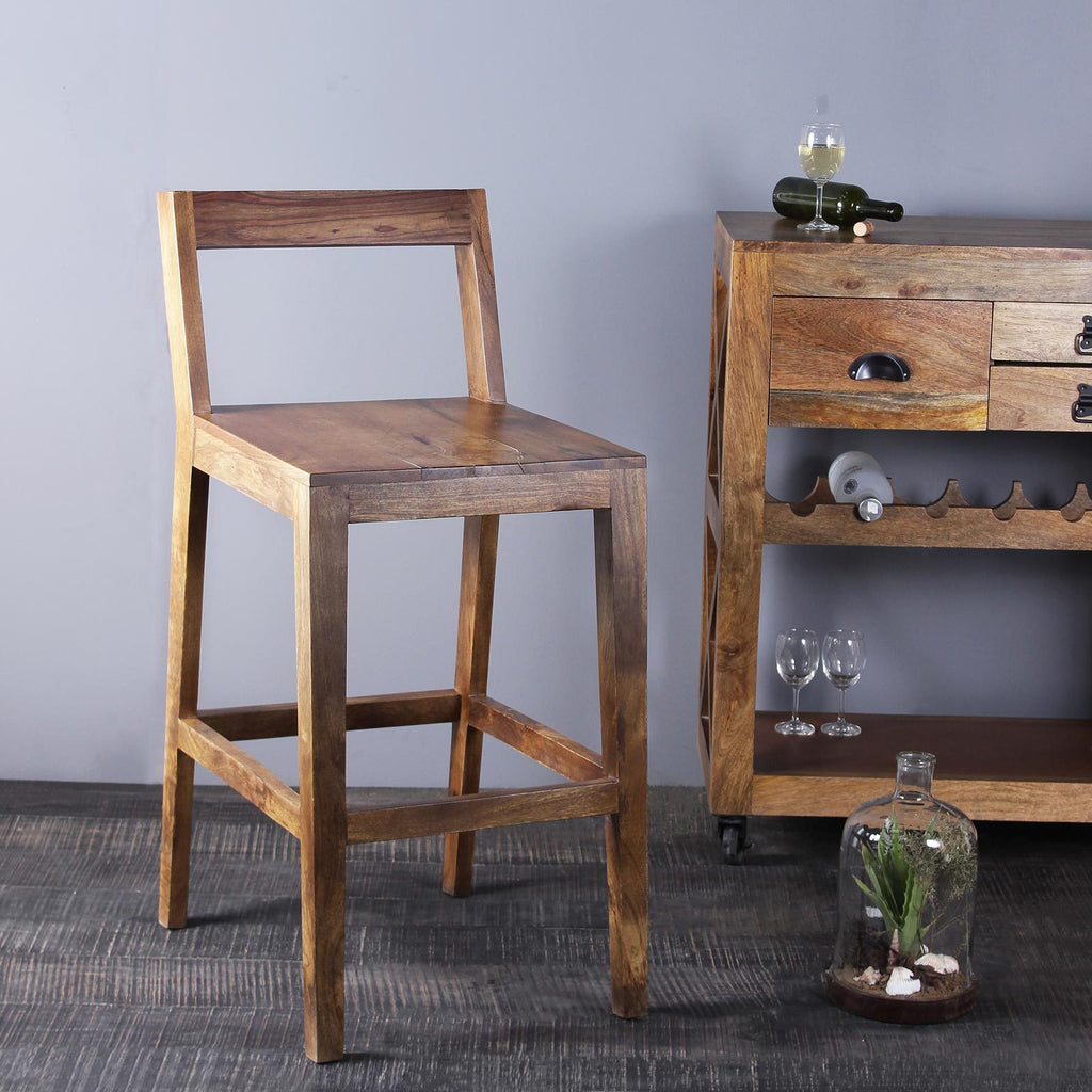 Pablo Solid Wood Bar Chair