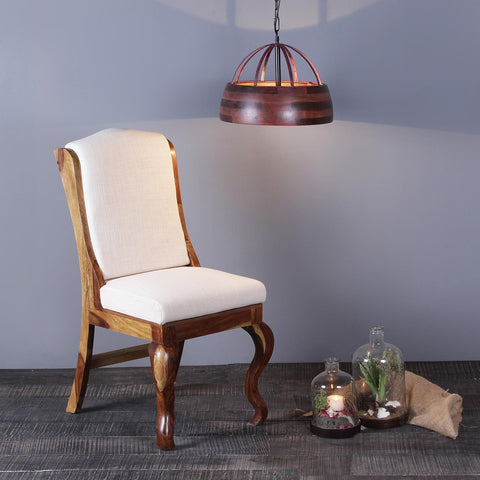 Nicole Solid Wood Chair with Upholstery