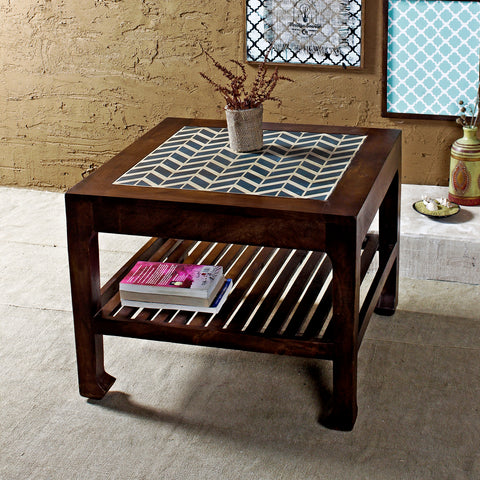 Buy Ashley Cheveron Walnut Coffee Table online