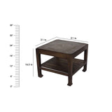 "Ashley Walnut Square End Table 21"" X 21"""