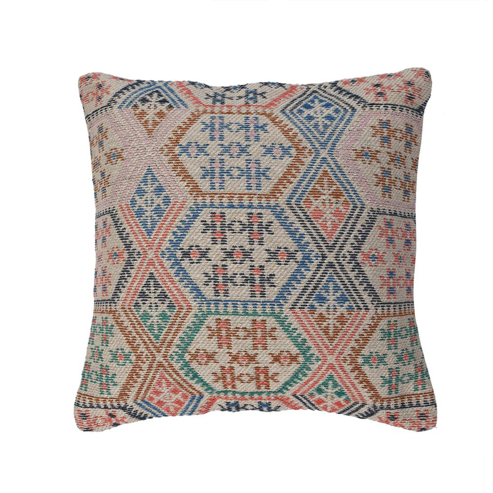 Hand Woven Multicolored Cotton Cushion Cover