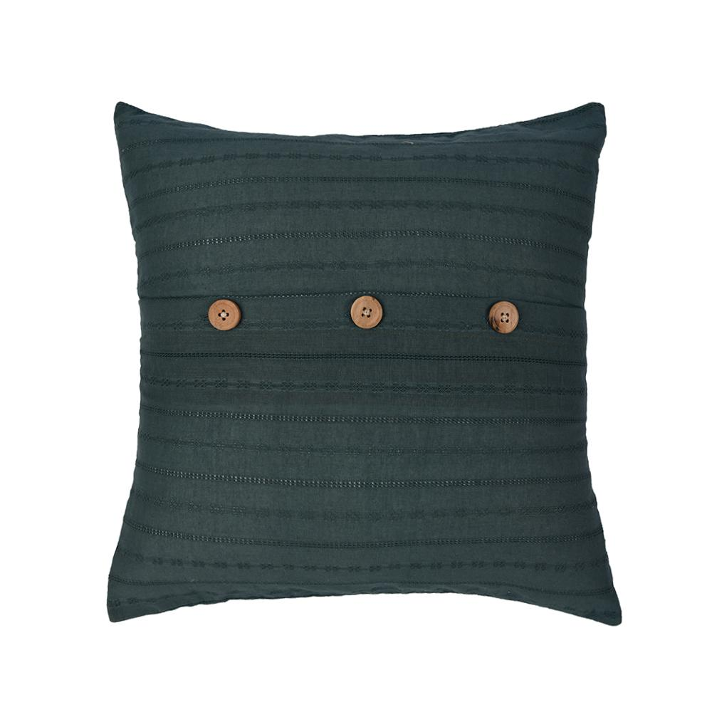 Blue Textured Cotton Cushion Cover