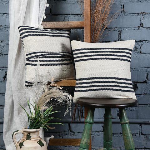 Country style Cotton Cushion Covers set of 2