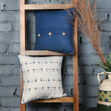 Blue Knitted Cotton Cushion Covers set of 2