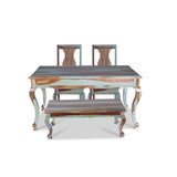Pansy Solid Wood Six Seater Dining Set