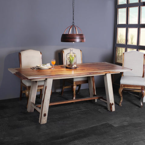 Paloma Solid Wood Six Seater Dining Set