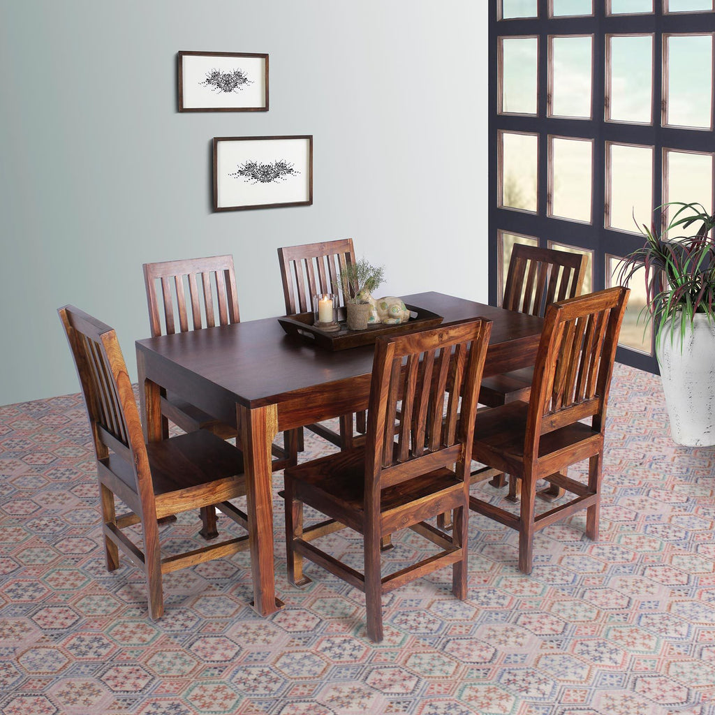 Valen Solid Wood Six Seater Dining Set