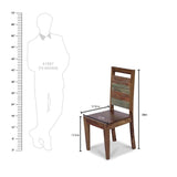 Norvin Solid Wood Chair in Vintage Finish