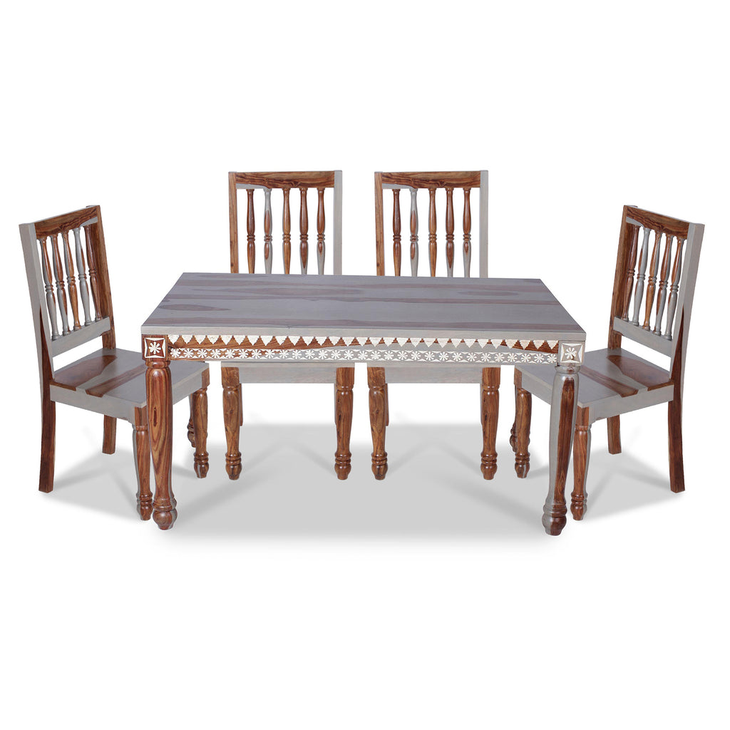 Vaclay Solid Wood Six Seater Dining Set