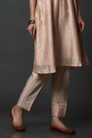 Rose Pink Pure Silk Pants