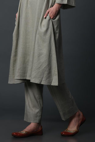 Dusty Green Linen Pants