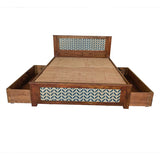 Baltoro Solid Sheesham Wood Bed with 2 Drawers