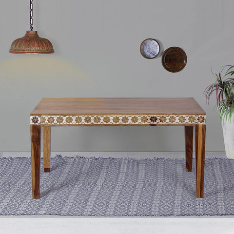 Odra Solid Wood Six Seater Dining Table