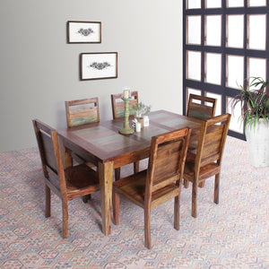 Paden Solid Wood Six Seater Dining Set